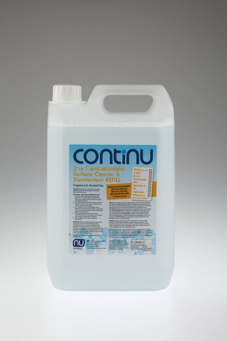 CONTINU 2 in 1 Alcohol Free Anti-Microbial Surface Disinfectant 5L Refill