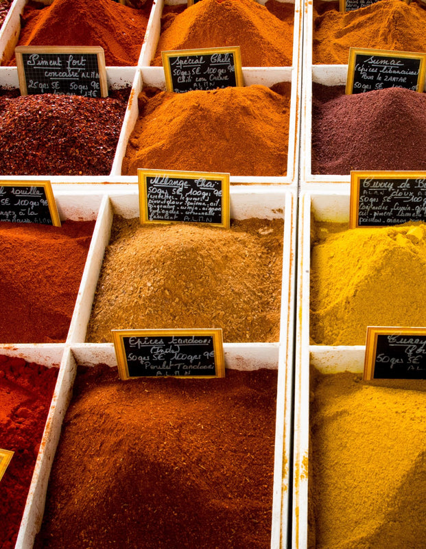 Organic Moroccan Spices and Ingredients in Market