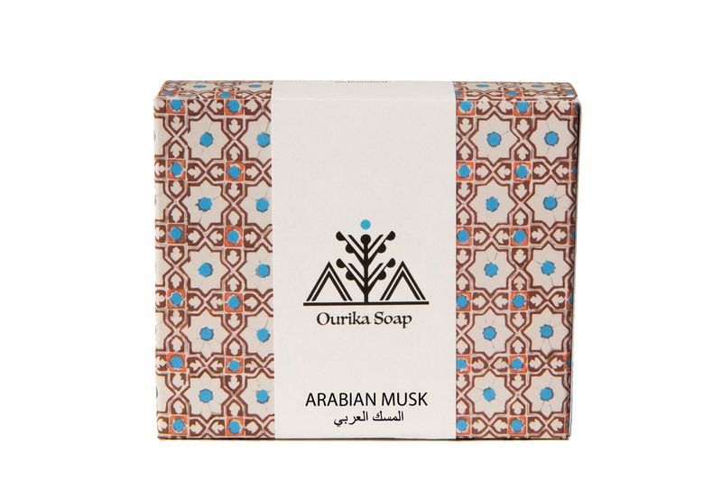 Organic Arabian Musk  Casablanca Soap Bar in Ourika  Tile  packaging