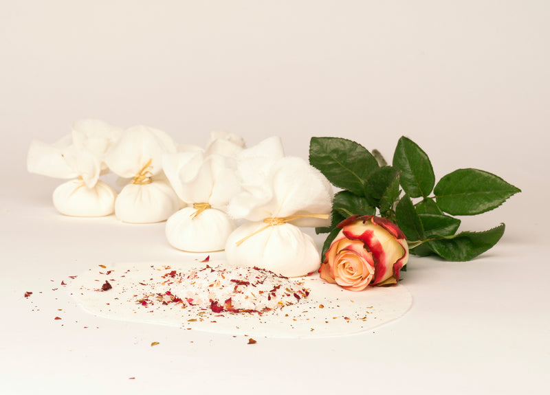 Rose Petals Natural Bath Salts Ourika Soap