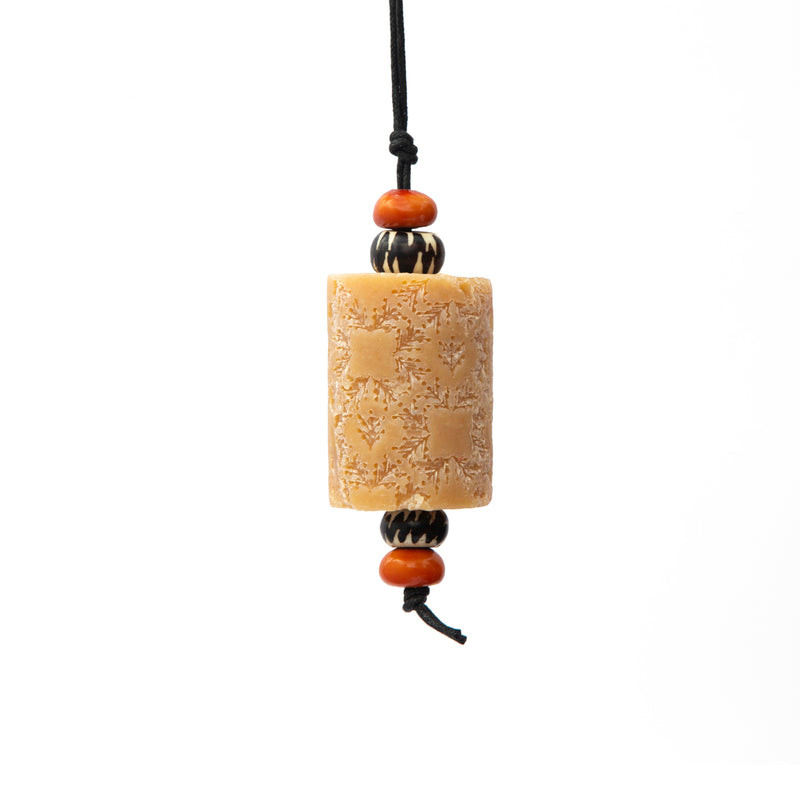 Green Tea Clove Oriental Soap on a Rope. The Marrakech hanging Jewel. Moroccan resin beads