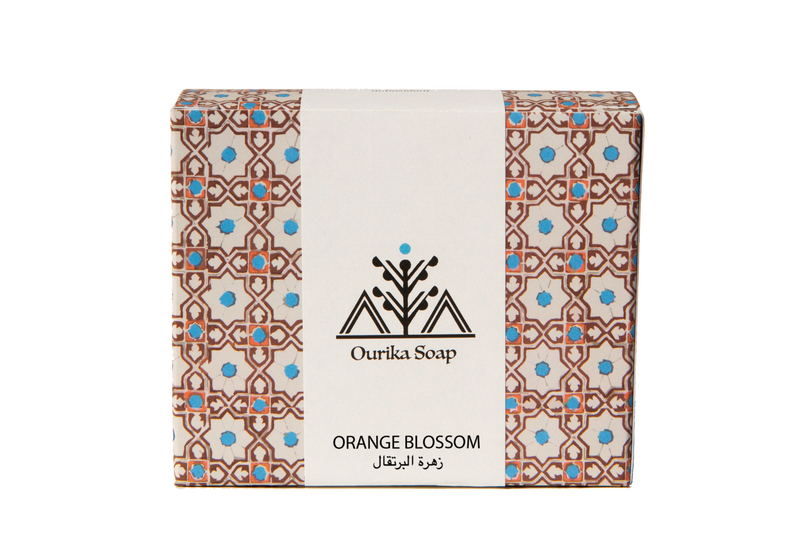 Orange Blossom Organic Casablanca Soap. Moroccan tile packaging