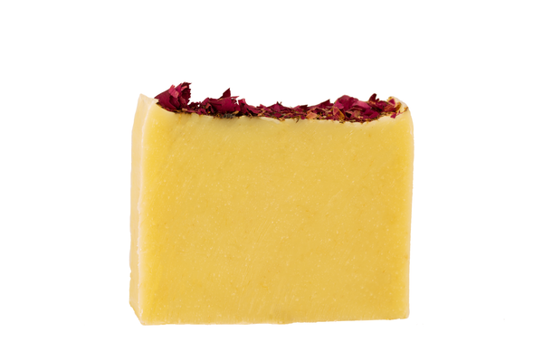Organic Handcrafted Rose Petals chamomile  Casablanca Soap Bar. Exfoliating Natural Loofah .