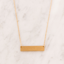 Load image into Gallery viewer, BRAVE bar necklace - Reviver Jewelry