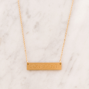 CONFIDENT bar necklace - Reviver Jewelry