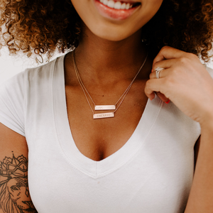 ENOUGH bar necklace - Reviver Jewelry