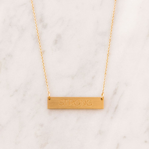 STRONG bar necklace - Reviver Jewelry