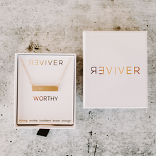 Load image into Gallery viewer, WORTHY bar necklace - Reviver Jewelry