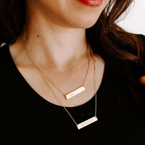 WORTHY bar necklace - Reviver Jewelry