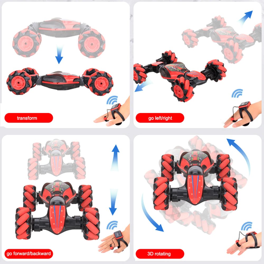 Gesture Sensing RC Stunt Car design