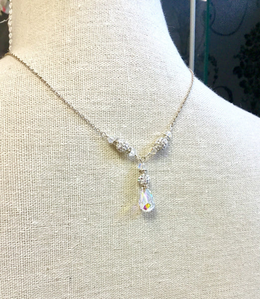 Gayle Y-Drop Crystal Necklace