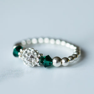 Tiffany Emerald Stretch Ring (May Birthstone)