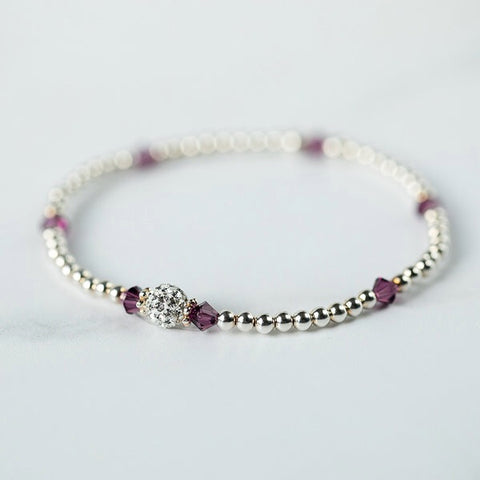 Tiffany Amethyst Bracelet (February Birthstone)