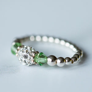 Tiffany Peridot Stretch Ring (August Birthstone)