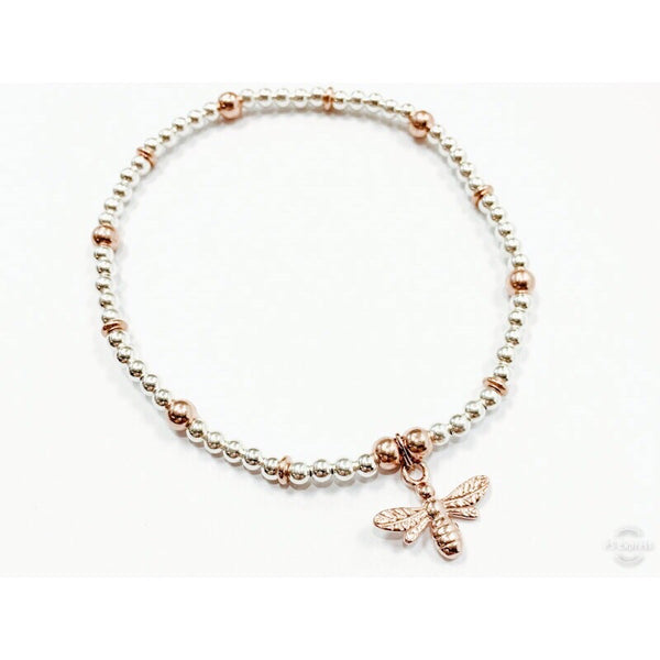 Queen Bee Rose Gold Mix Chloe Bracelet