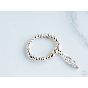 Falling Feather Stretch Ring