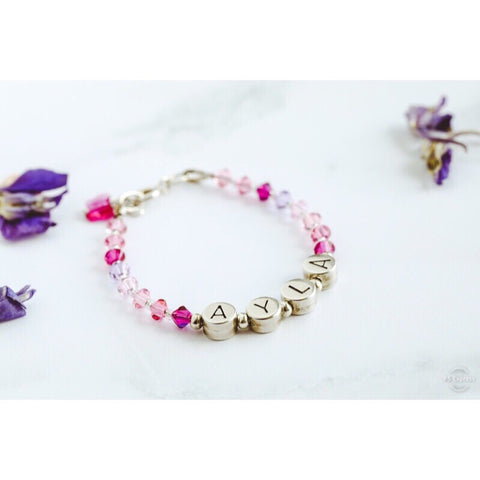 Personalised Name Bracelet in Pink Mix