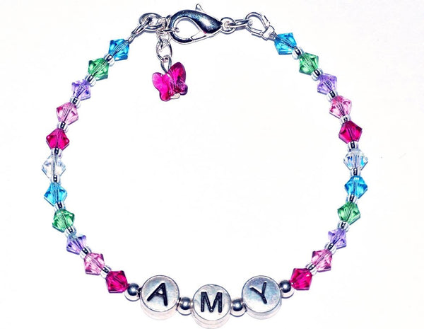 Personalised Name Bracelet in Multicolour