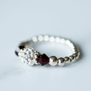Tiffany Garnet Stretch Ring (January Birthstone)