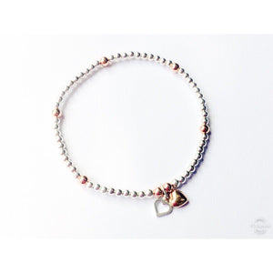 Bella 2 Hearts Rose Gold Mix Chloe Bracelet
