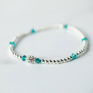 Tiffany BLUE ZIRCON Bracelet (December Birthstone)
