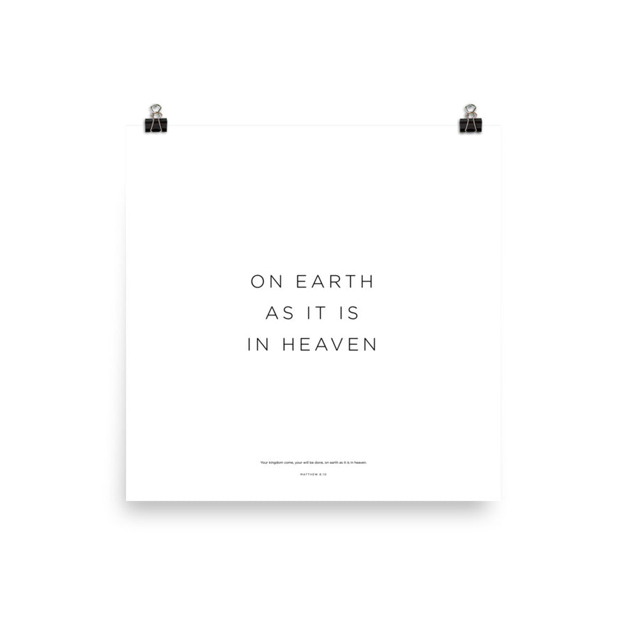 On Earth... Print