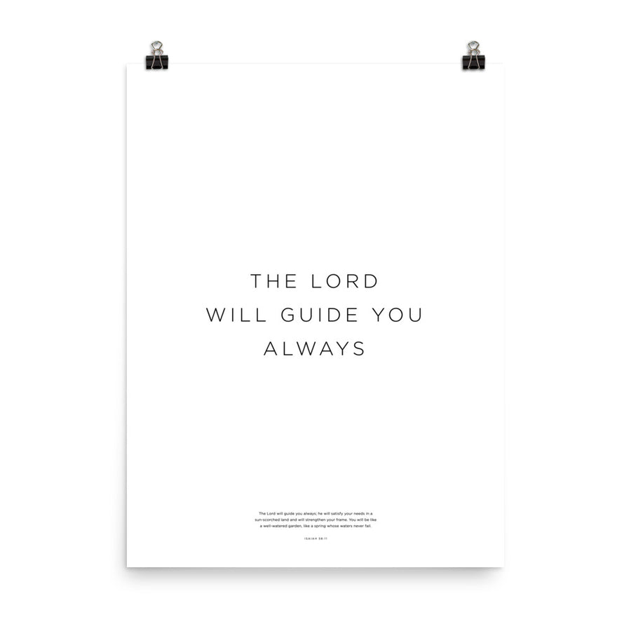The Lord Will Guide You Always Print