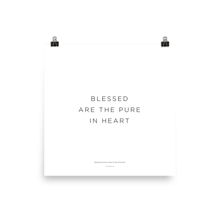 Blessed Are The Pure In Heart Print