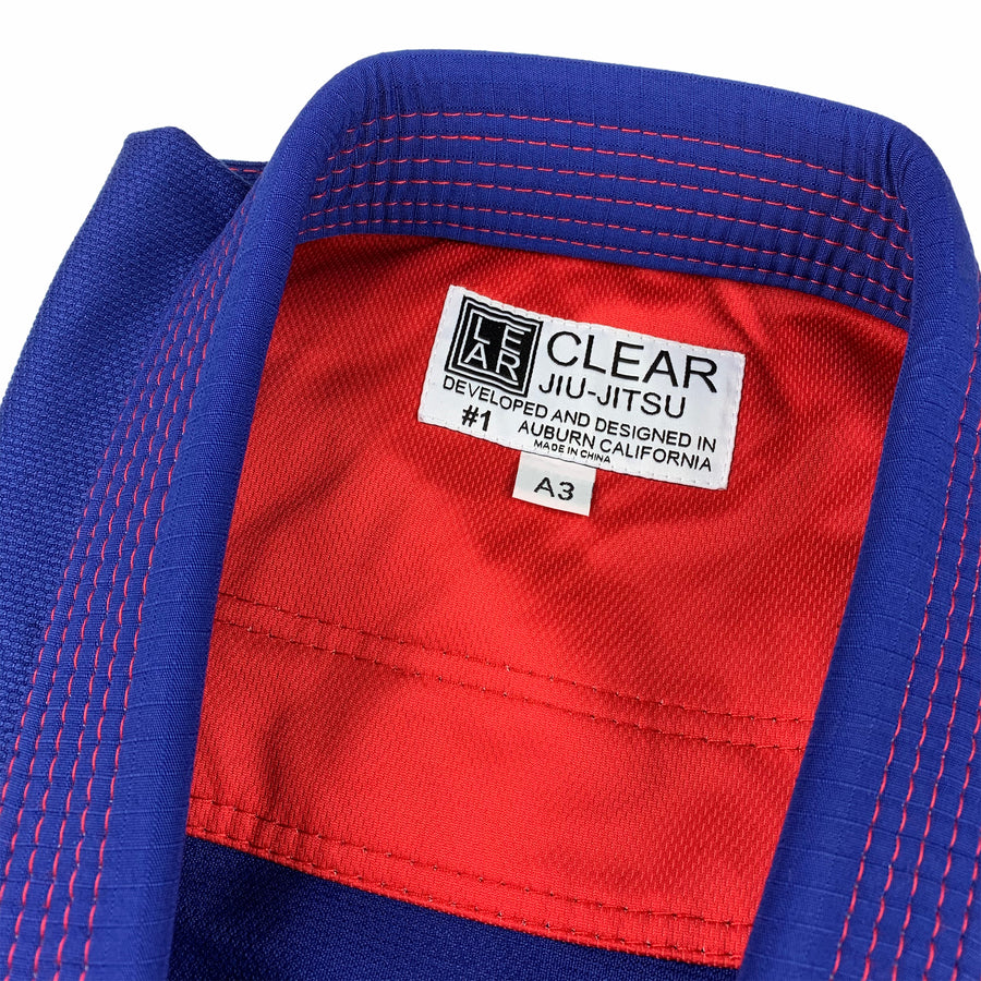 Clear Edge BJJ Gi White Red