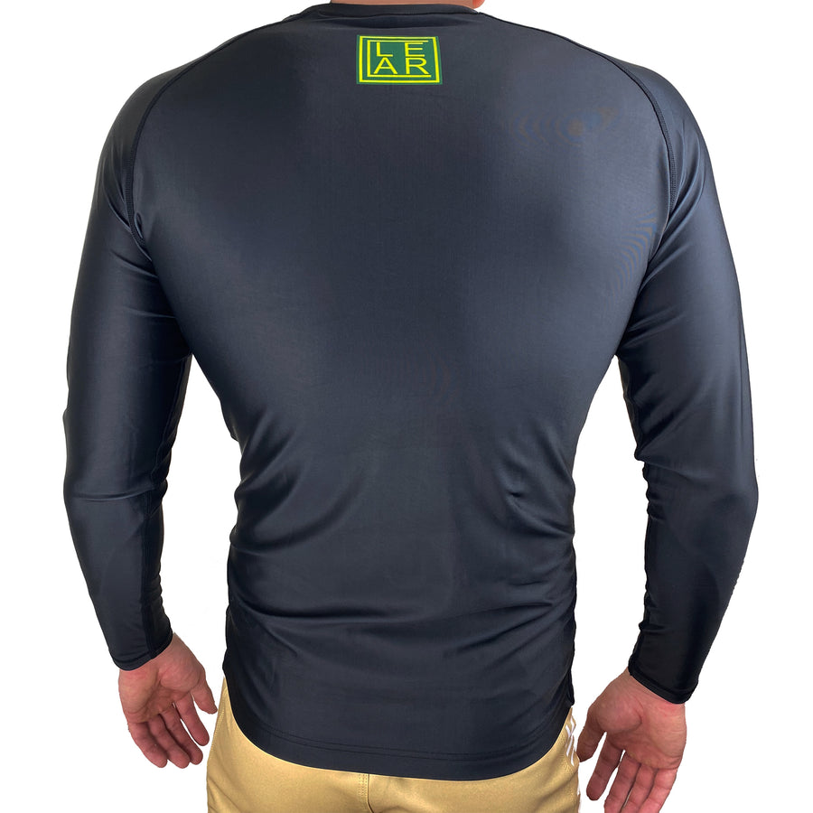 Clear Jiu Jitsu BJJ Rash Guard Black