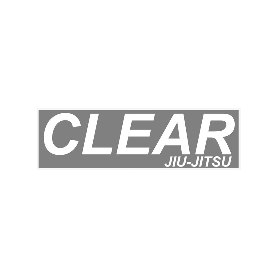 Clear BJJ Sticker Rectangle