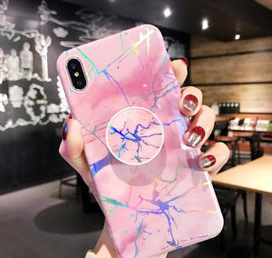 Marble Explosion W/Holder - Cute Phone Cases