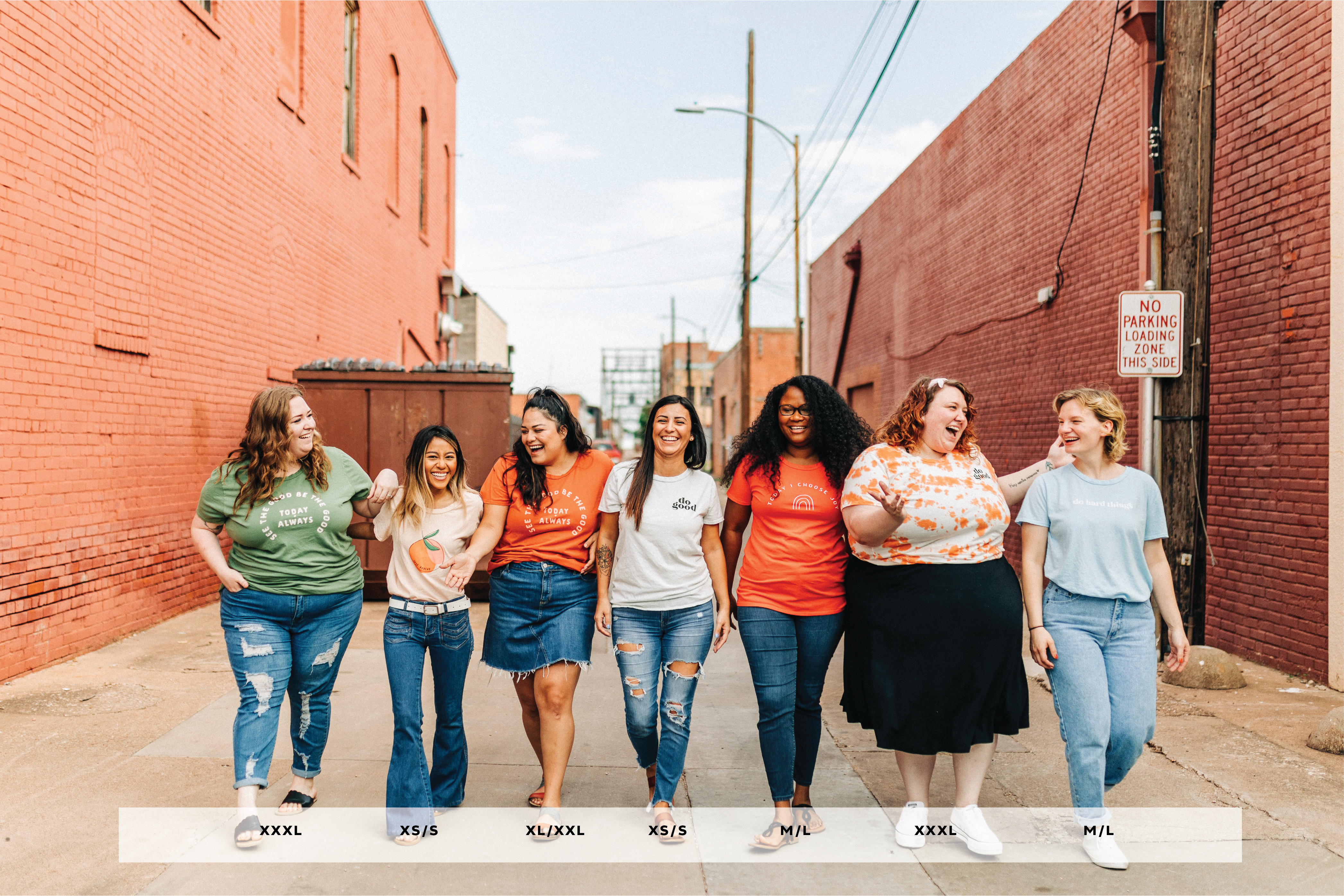 Size Guide for our Everyday Tee | Ramble & Company