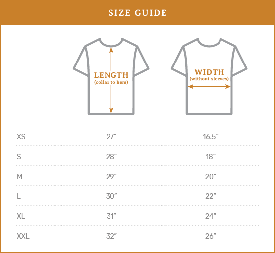 Ramble & Co. Size Guide