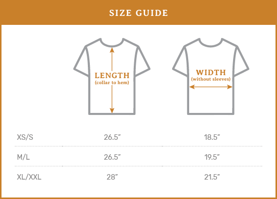 Ramble & Co. Size Guide - USA Made Tee