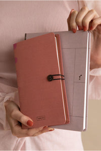 button notebook | rose dawn