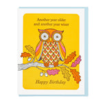 'Older and Wiser Birthday' Notecard