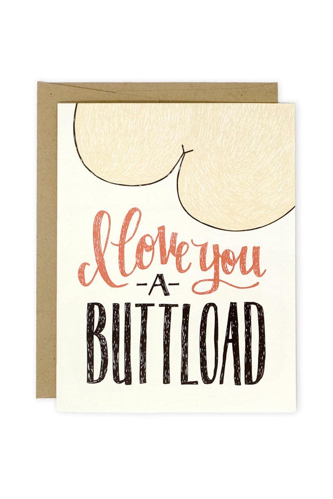 'Buttload Love' Notecard - ramble-and-company.myshopify.com - Accessories