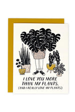 more than my plants | notecard