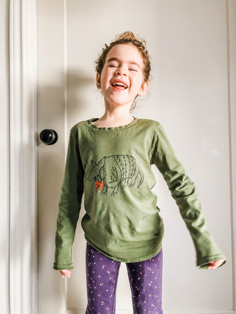 christmas armadillo long sleeve | kids