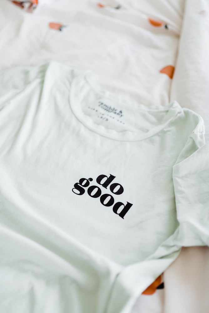 the do good everyday tee by Ramble & Company || USA Made || shop now at rambleandcompany.com or visit our storefront in downtown Wichita Falls, Texas || soft inspirational graphic t-shirts || wholesale available