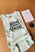 the good times ahead tee | milky green