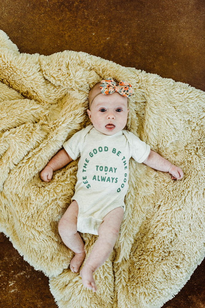 see the good in heather | onesie