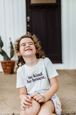 be kind kids tee | milky green