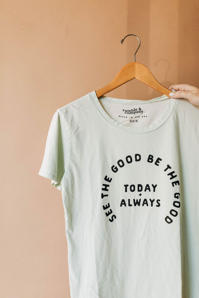 markdown | the see the good tee milky green