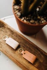 choose joy | leather loop key fob