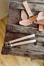 Leather Key Fob | wrist | love where you are