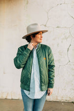 the armadillo bomber jacket | army green