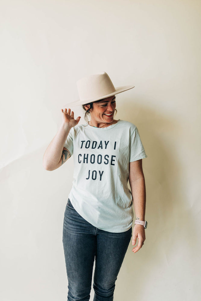 today i choose joy tee in milky green