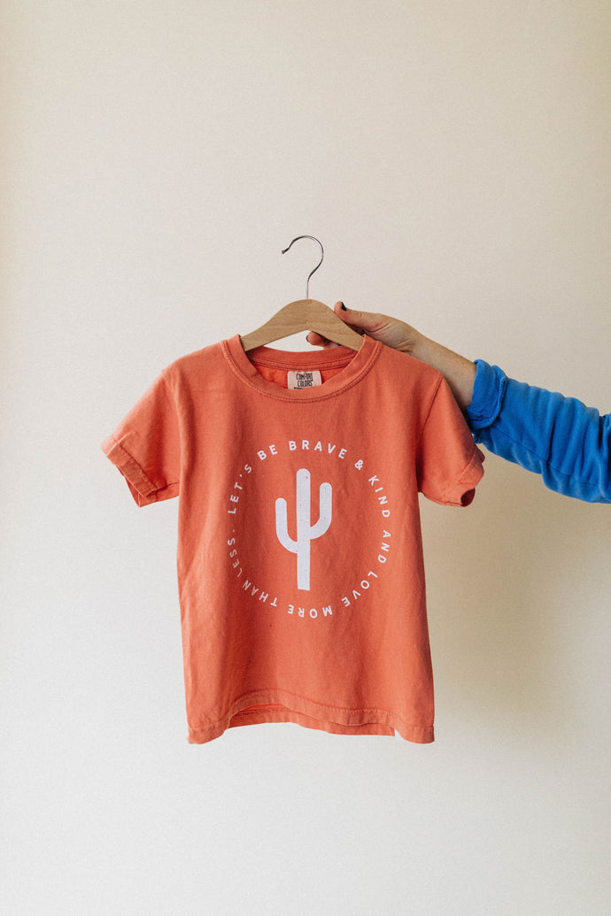 be brave kids tee | peach